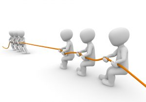 THE MARKED CENTERLINE IN A GAME OF TUG OF WAR